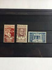 Francobolli Regno 1922 Mazzini 3 val. NUOVO con tracce linguella