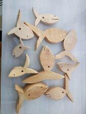 Lot 10 poissons en bois à peindre pour loisirs créatifs -  Neuf