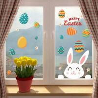Bamsod Easter Bunny Egg Wall Decals Window Sticker Wall Sticker Wall Decor