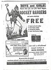 Vintage Copy Of Buck Rogers Rocket Rangers Ad   B/W  USED  (From Famous Funnies)