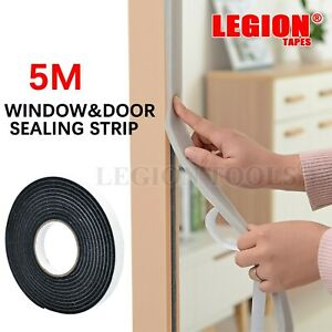 Weather Stripping Sponge Foam Strip Tape Draught Excluder Door Window Seal Roll