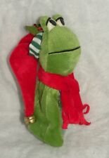 New Holiday Christmas Santa Frog Gift Bag Candy Treat Sack Bag