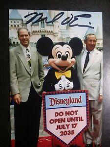 MICHAEL EISNER Authentic Hand Signed Autograph 4X6 Photo with WALT DISNEY CEO
