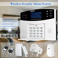 Wireless LCD GSM SMS Home Security Burglar House Security Alarm System US Stock