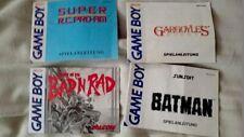 4 x Gameboy Spielanleitung Instruction Batman, Gargonyles Badn Rad Nintendo