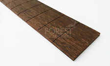"""Wengue guitar fretboard, fingerboard 24.75"""" Gibson ® scale, slotted R 12"""""""