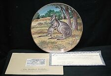 The Bridled Wallaby Collector Plate 1990 The Endangered Species W.S. George COA
