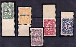 ECUADOR, BETROSSA Nos. XXIX/XXXIII SCADTA Air Mail Issue of 1928, MNH