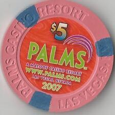 PALMS 2007 WWW.PALMS.COM   $5   CASINO UNC. CHIP