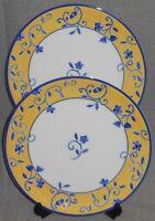 Set (2) Nancy Calhoun SANTANA PATTERN Dinner Plates SPAL - Made in Portugal