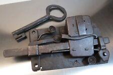 Antikes Kastenschloss mit Schlüssel16/1700Jh. Schweden Sammlerstück Lot: FE/17/7