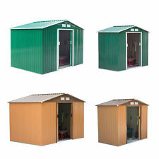 More details for garden shed storage large yard store door metal roof building tool box container