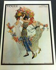 Poster Vintage De Revista Vogue 1913 de junio de 15, autorizado década de 1970 reimpresión 39 x28cm 1