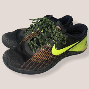 Nike Metcon 3 Men's Size 8.5 Black Volt Hyper Crimson 852928-012 Running Sneaker