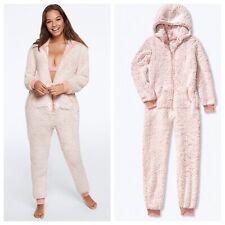 Vs pink cozy sleep leggings brand new size medium pale blue snowflakes