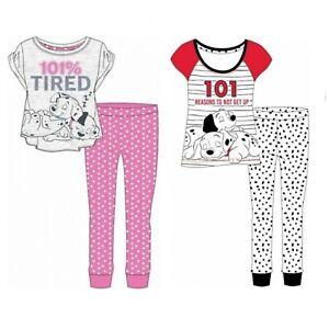 Official 101 Dalmatians Dog Womens Super Soft Cotton Nightwear Pyjama Set