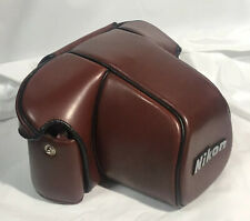 NEAR MINT Nikon CF-20 ever ready burgundy Leather Camera Case For F3 or F3HP