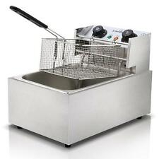 10L Commercial Steel Benchtop Electric Deep Fryer with Single Oil Basket