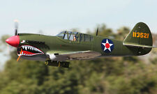 "Giant 1/5 Scale Curtiss P-40D WARHAWK scratch build R/c Plane Plans 93"" wingspan"