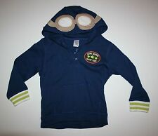New Gymboree Flight School Hoodie 12m 18m  24mNWT Blue Sweatshirt Top Aviator
