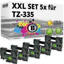 5er Farbband für Brother P-Touch 1000 1010 1080 1090 1230 PC1250 1280 TZ-231 231