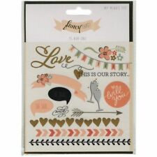 """My Mind's Eye Fancy That """"Kiss"""" Rub-ons FT1012 Wedding Love Our Story"""