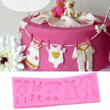 Moule Silicone Decors Habils Bébé Pate à Sucre & d'Amande Cake Design