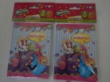 Shopkins Invitations 2 Packs of 8