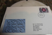 First Day Cover The Silver Jubilee of The Queens Accession