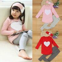 Toddler Kids Baby Girl Outfit Clothes T-shirt Tops Dress+Leggings Pants 2PCS Set
