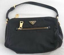 Prada black nylon bag with leather