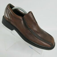 Clarks Brown Leather Bicycle Toe Square Slip On Loafers Men's Size 10 M