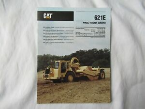 1989 CAT Caterpillar 621E wheel tractor scraper brochure