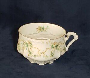 Hermann Ohme EGLANTINE Porcelain Mustache Mug Tea Cup Green Brown Ribbon