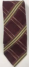 Ermenegildo Zegna  Yellow Grey Red Striped 100% Silk Tie ITALY