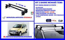 Barre Portatutto Portapacchi Acciaio - Fiat Panda 5 porte 2003>2012 Menabò Tema