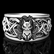 Fashion Fox 925 Silver Rings for Women Jewelry Party Rings Free Shipping Sz 5-11