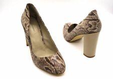 BANANA REPUBLIC Size 11 Beige Tan Faux Snakeskin Python Block High Heel Pumps