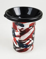 Mud Jug Spittoon - American Flag Portable Chewing Tobacco - Spill Resistant-NEW