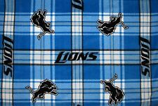 2-NFL DETROIT LIONS STANDARD PRINT FLEECE PILLOW CASES/BLACK FLEECE BACK/20X25