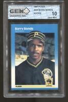 1987 Barry Bonds Fleer #604 RC Rookie Gem Mint 10 Pirates Giants