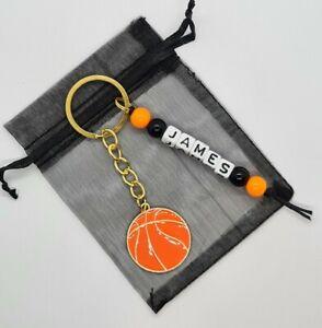*personalised* basketball, netball keyring, sports keyring, 🏀