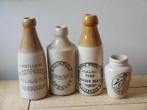 Vintage Antique Stoneware Ginger Beer Bottles