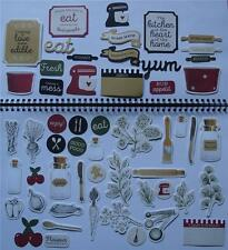 ~ Bon Appetit ~ Cooking COLLECTABLES 50+ Die Cut Shapes Scrapbook Card Making
