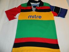 South Africa rugby soccer Mitre medium polo shirt color block Suid Afrika