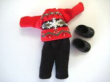 Barbie Kelly Tommy Ryan Red Snowflake Sweater Black Pants & Black Boots