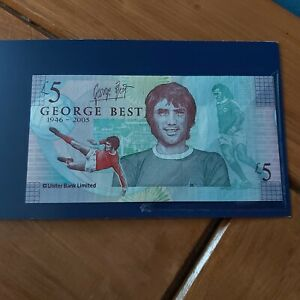 George Best Commerative Five Pound Banknote(GB839186) With Wallet Uncirculated