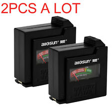 2 Pcs Aa/Aaa/C/D/9V/1.5V Universal Button Cell Battery Indicator Volt Tester