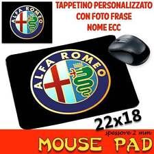 Tappetino Mouse Pad personalizzabile sp 2mm Collezione Auto Moto Motori Alfa Rom