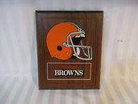 Cleveland Browns Wood Plaque Football Helmet Team Tailgate Office Bedroom VTG